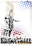 Basketball vector poster background Royalty Free Stock Photo