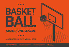 Basketball vector poster Stock Images