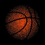 Basketball vector technology background game. Basket dots ball element activity.  royalty free illustration