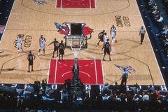 Basketball View From The Top Of The Arena during the game. Royalty Free Stock Photos