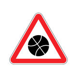 Basketball Warning sign red. game Hazard attention symbol. Dange Stock Photos