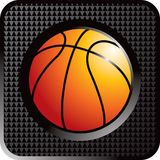 Basketball web button. Web button icon of a basketball Royalty Free Stock Photography