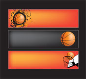 Basketball website banners Stock Images