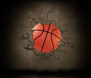 Basketball wedged Stock Images