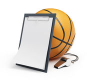 Basketball whistle judge. On a white background Royalty Free Stock Photography