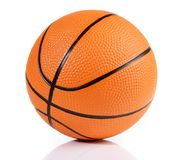 Basketball on white Background royalty free stock photo