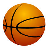 Basketball on white background Royalty Free Stock Photography
