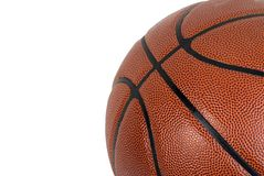 Basketball on a White Background Stock Images