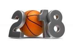 Basketball 2018 on white background. Isolated 3D illustration.  Stock Photography