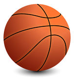 Basketball on the white background with shadow Royalty Free Stock Images