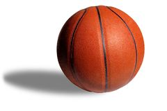 Basketball on White with Dual Royalty Free Stock Photos