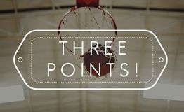 Basketball Winning Point Competition Concept.  royalty free stock photography