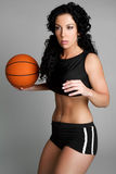 Basketball Woman Royalty Free Stock Photography
