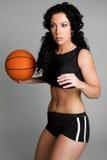 Basketball Woman Royalty Free Stock Photography