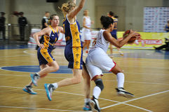 Basketball women 21.10.2012, city of Orenburg, Sou Royalty Free Stock Images