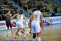 Basketball women 21.10.2012, city of Orenburg, Sou Royalty Free Stock Photo