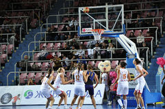 Basketball women 21.10.2012, city of Orenburg, Sou Stock Photos