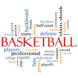 Basketball Word Cloud Concept Stock Photography
