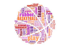 Basketball word cloud concept Stock Photos