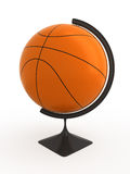 Basketball is world. Basketball ball - terrestrial globe. Isolated Royalty Free Stock Photography