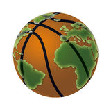 Basketball World. A basketball in a world globe shape Stock Photo