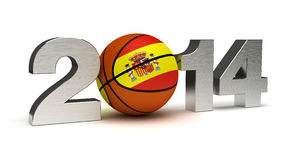 2014 Basketball World Cup. (computer generated image Royalty Free Stock Images