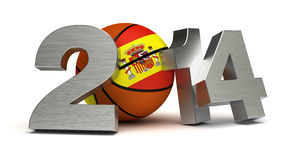 2014 Basketball World Cup. (computer generated image Stock Image