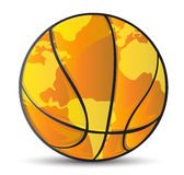 Basketball world map ball illustration Royalty Free Stock Images