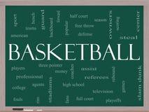 Basketball-Wort-Wolken-Konzept auf einer Tafel Stockfotos