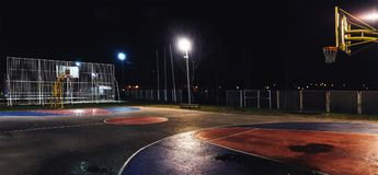 Free Basketball Yard By Night Stock Images - 107655174
