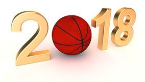 Basketball 2018 year Royalty Free Stock Photos