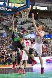 Basketballaktion Lizenzfreies Stockbild