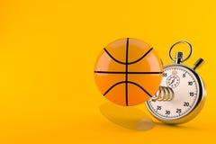 Basketballball mit Stoppuhr vektor abbildung