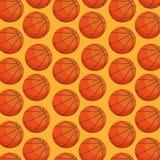 Basketballballon-Sportmuster stock abbildung