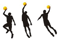 Basketballer. Abstract vector illustration of basketballer Royalty Free Stock Image