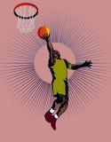 basketballer kur - do kosza Obrazy Stock