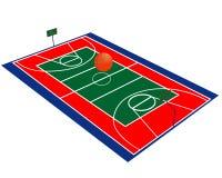 Basketballfeld lizenzfreie abbildung