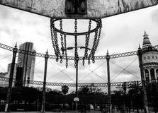 Basketballfeld Stockbild