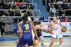 Basketballfrauen 21.10.2012, Stadt von Orenburg, Sou Lizenzfreie Stockfotografie