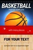 Basketballhintergrund - Schablone für Ihr Sportdesign Lizenzfreie Stockfotografie