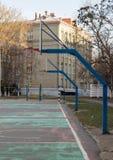 Basketballkörbe Stockbild