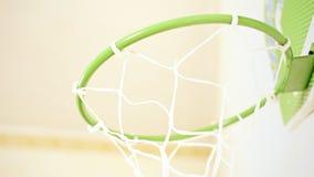 Basketballkorb stock video footage