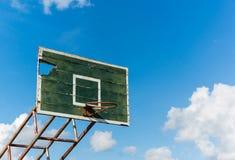 Basketballkorb alt Stockfotos