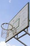 Basketballkorb mit Weinleseblick Lizenzfreie Stockfotografie