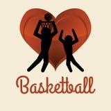 Basketballl design. sport icon. White background , vector Royalty Free Stock Photos
