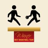 Basketballl design. sport icon. White background , vector Stock Photo