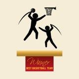 Basketballl design. sport icon. White background , vector Stock Images