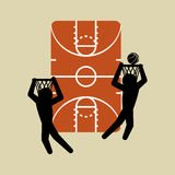 Basketballl design. sport icon. White background , vector Stock Photography