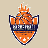 Basketballlogo, Amerika-Logo Stockfoto