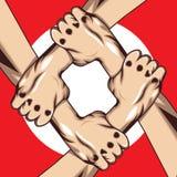 Basketballlogo, Amerika-Logo Stockfotos